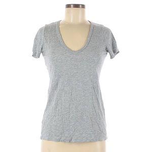 Splendid Grey V-Neck Cotton and Modal T-Shirt